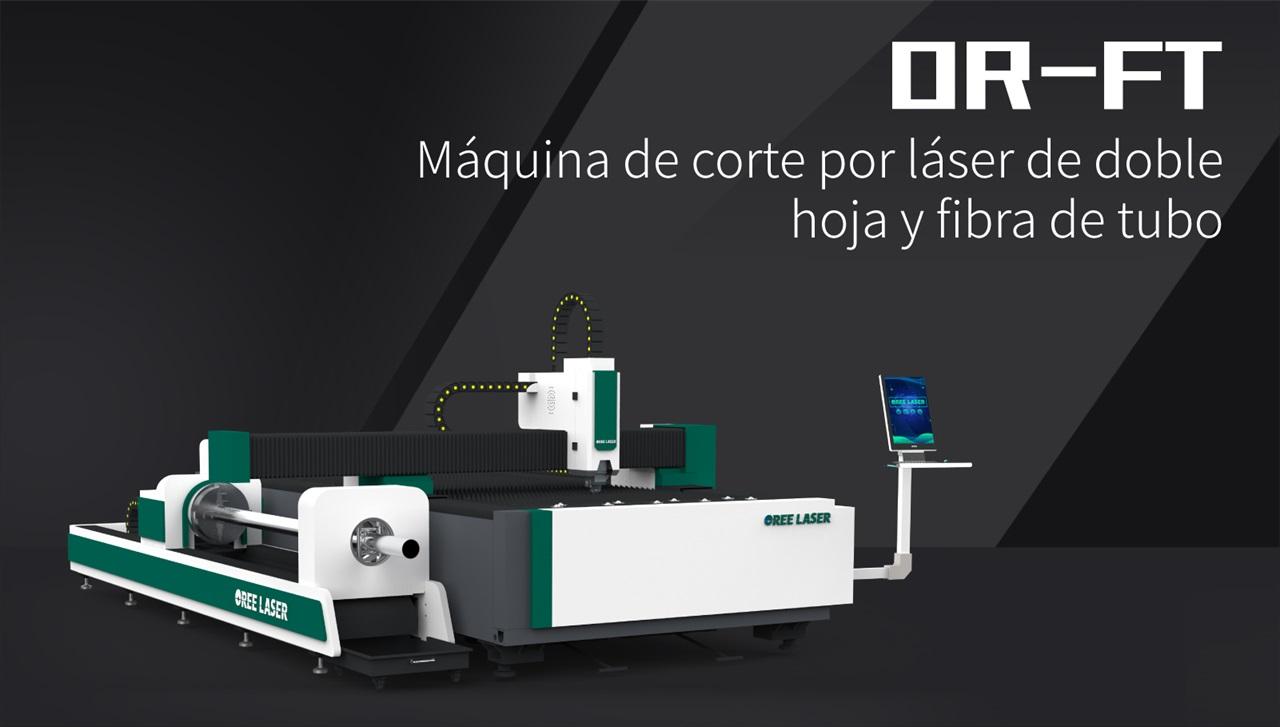 Máquina de corte por láser de doble hoja y fibra de tubo OR-FT